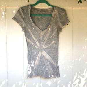 Reverse tie-dyed t-shirt